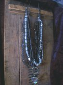 Strands of Silver Necklace w/Locket