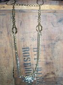 Vintage Brass &Rhinestone Necklaces