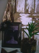 Embellished Photoframe w/Crown and Feather Cape